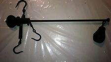 Antique Sargent Hanging Scale-Cast Iron Weight-Farm Cotton Hay Meat