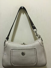 COACH DEMI IVORY BAG PURSE 8A37 LEATHER H:6 L:9 PRICE MARKED DOWN FOR QUICK SALE