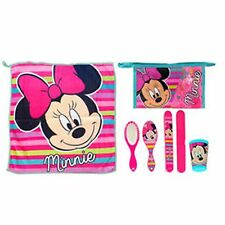 Disney MINNIE MOUSE 5pc Child Health -Towel, Cup, Toothbrush Cover, Brush, Bag