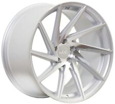 18X9.5 +38 F1R F29 5X120 MACHINED FACE SILVER WHEEL RIMS | SET OF 4 | 5X4.75