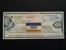 TRAVELERS CHEQUE DA 50 DOLLARI