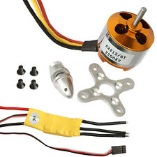 Hot A2212-6 2200KV Brushless Outrunner Motor +30A Brushless ESC For Airplane