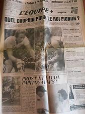 JOURNAL L'EQUIPE TOUR DE FRANCE LEMOND / FIGNON  1984 (A)