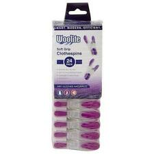 New! Laundry Hangers Woolite - Soft Grip Clothespins - 24 Pack - Free Shipping!