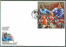 CENTRAL AFRICA  2014  CHESS MASTERS BILBAO VISWANATHAN ANAND S/S FDC
