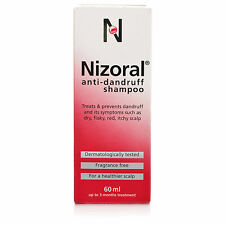 Nizoral Anti-Dandruff Shampoo Fragrance Free (60ml) 2% Free shipping USA