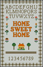 "Home Sweet Home Cross Stitch Kit Sampler 13.5"" x 8.5"""