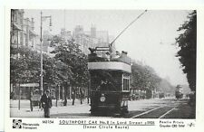 Tram Postcard - Southport Car No.8 in Lord Street c1905  Inner Circle Route M873