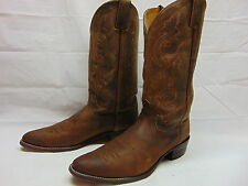 Justin Western Rodeo Boots Mens 11 D Leather Cowboy Round Apache Bay Brown 2253