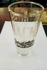 JACK DANIELS OLD NO. 7 Cocktail drink glass - 10 oz. 6 in. tall
