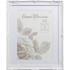 A3 Mounted Vintage Antique Photo Frame White Shabby Chic BN