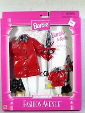 NIB BARBIE DOLL FASHION AVENUE 1997 KELLY AND BARBIE MATCHIN' STYLES RAIN COATS