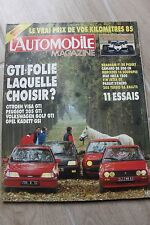 L'AUTOMOBILE N°462 205 TURBO 16 & GTi GOLF 2 GTi KADETT GSi MERCEDES 190E 2.3-16