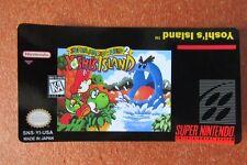 Super Mario 2 Yoshi Island - Cartridge Replacement Game Label for Super Nintendo