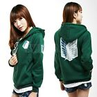 Attack on Titan Shingeki no Kyojin Scouting Legion Green Cosplay Hoodie Coat