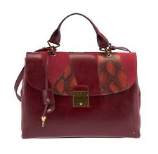 Marc Jacobs Burgundy Bordeaux Leather Briefcase Shoulder Bag Women's RRP £699