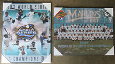 Pair of Florida Marlins World Series Championship Picture Plaques 2003, 1997