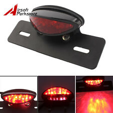 Motorcycle Rear Brake Stop Light License Plate Bracket LED Custom Tail Light New
