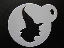 Laser cut small wicked witch design cake, cookie,craft & face painting stencil
