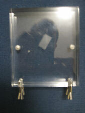 Acrylic Photo Frame Approx 10.5cm by 9cm by 3cm stands 12.5cm high - VGC