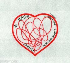 FRANCE - 2012, timbre SAINT VALENTIN, COEUR, PATCH d' AMOUR, neuf**