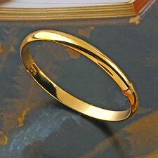 Smooth 9K Yellow Gold Filled Women's Simple Bangle Bracelet,Size:58*8mm,Z3135