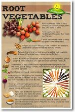Healthy Foods - Root Vegetables - NEW Nutrition Healthy Foods Diet POSTER