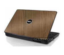 WOOD Vinyl Lid Skin Cover Decal fits Dell Inspiron 1545 1546 Laptop