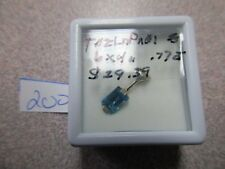 BEAUTIFUL LONDON BLUE TOPAZ EMERALD CUT STERLING SILVER PENDENT ONLY GORGEOUS