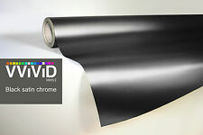 VVIVID8 3MIL black chrome satin matte car wrap vinyl 100ft x5ft conform stretch