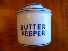 BUTTER KEEPER BELL BLUE & WHITE CROCK Holds A FULL STICK OF BUTTER - 1/2 CUP NEW