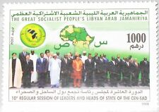 LIBYEN LIBYA 2008 2923 10th Meeting Statesmen Coast & Dessert States Map MNH