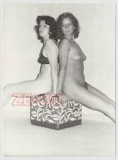 altes Foto ZWEI FRAUEN NACKT LESBISCH AKT AMATEUR SEXY GIRL NUDE LESBIAN um 1970