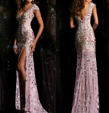 2015 NEW Sexy sequins long Formal Prom Dresses Evening Party Pageant Ball Gowns