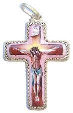 Pendentif Croix Orthodoxe émaillée Cadeau Pâques, bapteme, communion Croix russe