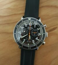 Shinola Runwell Chrono 42mm watch with Black face & Black Rubber Strap