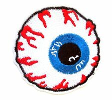 Large 7cm Eyeball Iron On Patch- Embroidered Appliques Badge Sew On Crafts