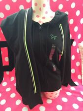 Set! Victorias Secret PINK Hoodie & Pant Black & Lime Green Small/Extra Small