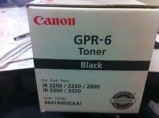 Original Canon gpr-6 6647a003 tóner ir2200 ir2800 ir3300 ir3320 a-Ware