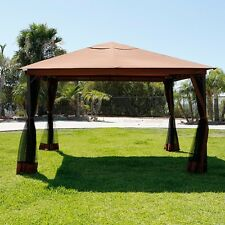 10' x 12' Regency Patio Canopy Gazebo Mosquito Net Netting Aluminum Steel