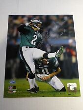 NFL Licensed David Akers Autograph Photo SB XXXIX From Super Bowl 39 -Silver Ink