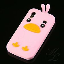 Samsung Galaxy ACE S5830i S5839i Silikon Case Schutz Hülle Chicken Cover Rosa 3D