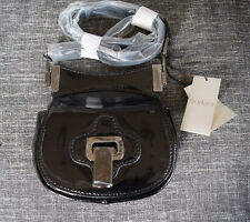 NWT Botkier Brinks Crossbody Black Patent Cowhide Leather Purse