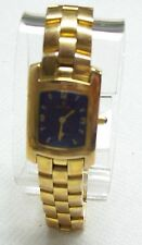 Pretty CROTON Ladies 23KT Gold Plated Blue Dial Watch
