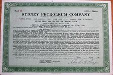 'Sydney Petroleum Company' 1944 Oil Stock Certificate - Massachusetts Ma