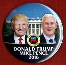 "2016 Donald Trump & Mike Pence 3""(Large Size) /  Campaign Button(Pin 24L)"