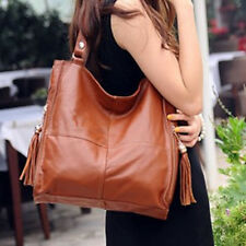 Womens Handbag Large Tan Leather Bags Tote Brown Bag Tan With Tassels BNWT