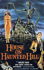 Vintage Poster Vincent Price House On Haunted Hill 18x24