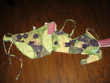 NWT NEW XOXO XS PURPLE YELLOW FLORAL RHINESTONES BIKINI SWIMSUIT