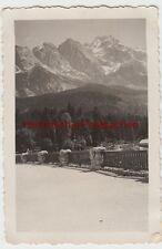 (F8380) Orig. Foto Eibsee, Partie m. Riffelwandspitze u. Zugspitze 1935